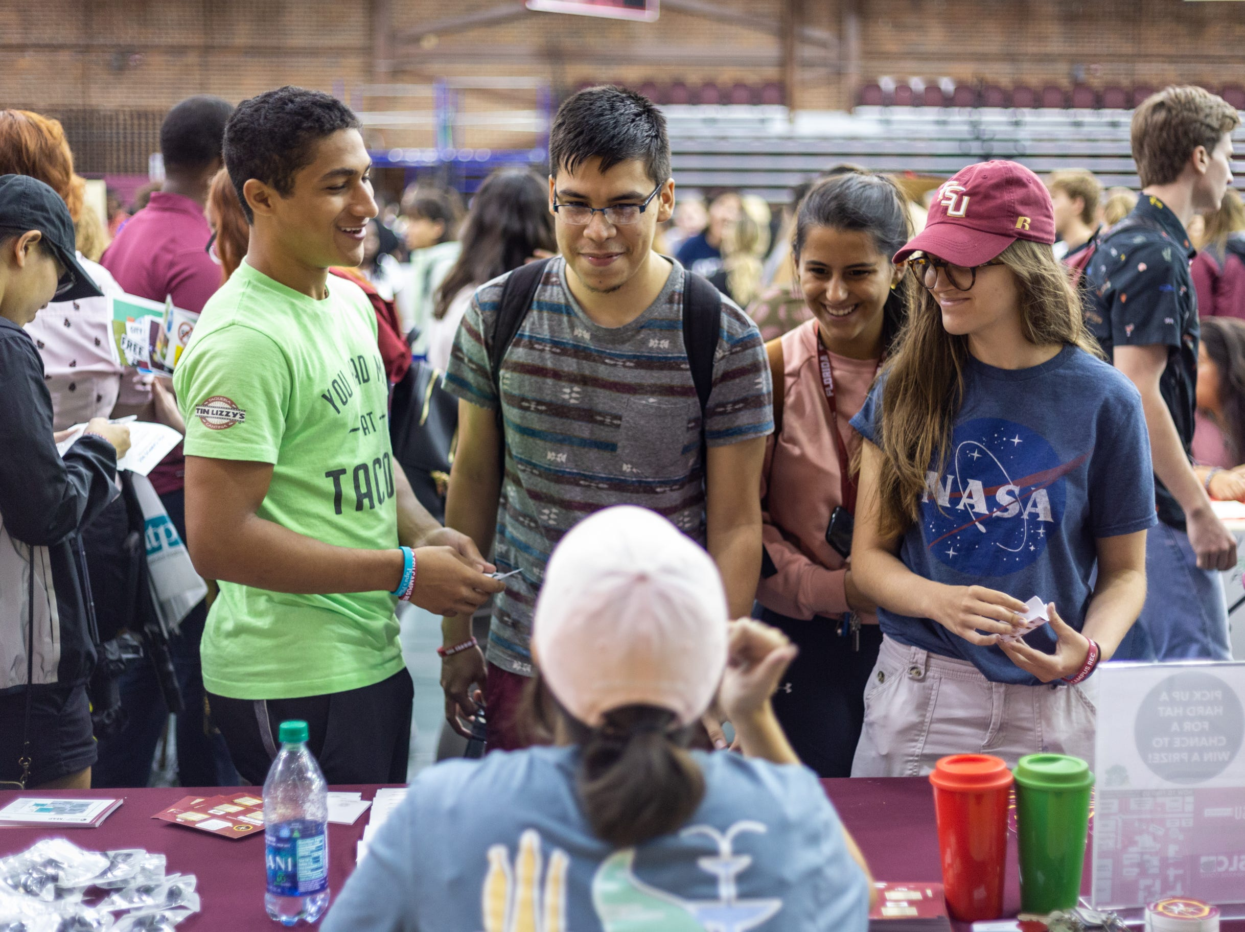 The Olgesby Union hosted the 2018 Fall Involvement Fair in the Leach Center and Tully Gymnasium. Coutless organizations tabled and hundereds of students showed up to get involved on Tuesday.