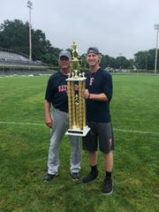 Tyler Ahearn's team took home the Cape Cod Baseball League championship in 2018.