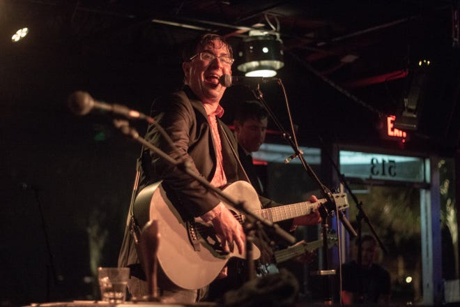 Frontman John Darnielle performs in front of fans at The Wilbury in Tallahassee.