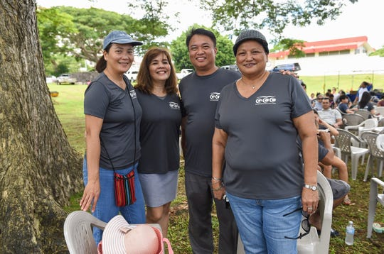 The  Government of Guam held its annual Labor Day picnic at Gov. Joseph Flores Beach Park in Tumon on Sept. 2, 2018. From left: Patricia Nery, Emma R. Bataclan, Danilo Bilong, and Tonie Cabrito.