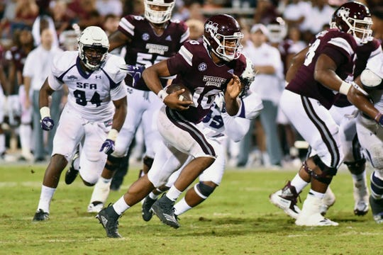 Keytaon Thompson, a dual-threat quarterback, has transferred to Virginia after an up-and-down career at Mississippi State.