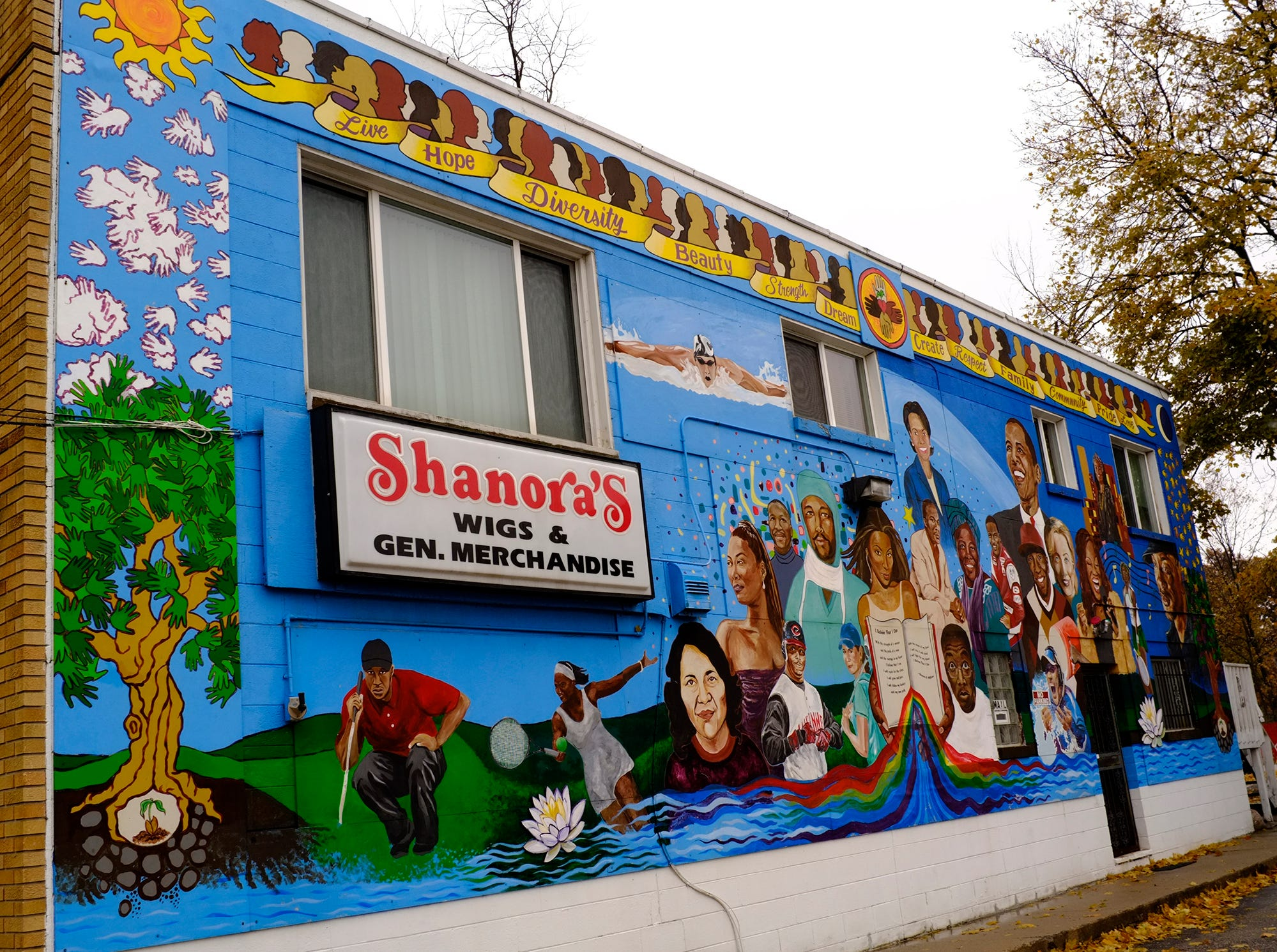 Shanora's on 827 W. Saginaw is one of the oldest murals in the city.