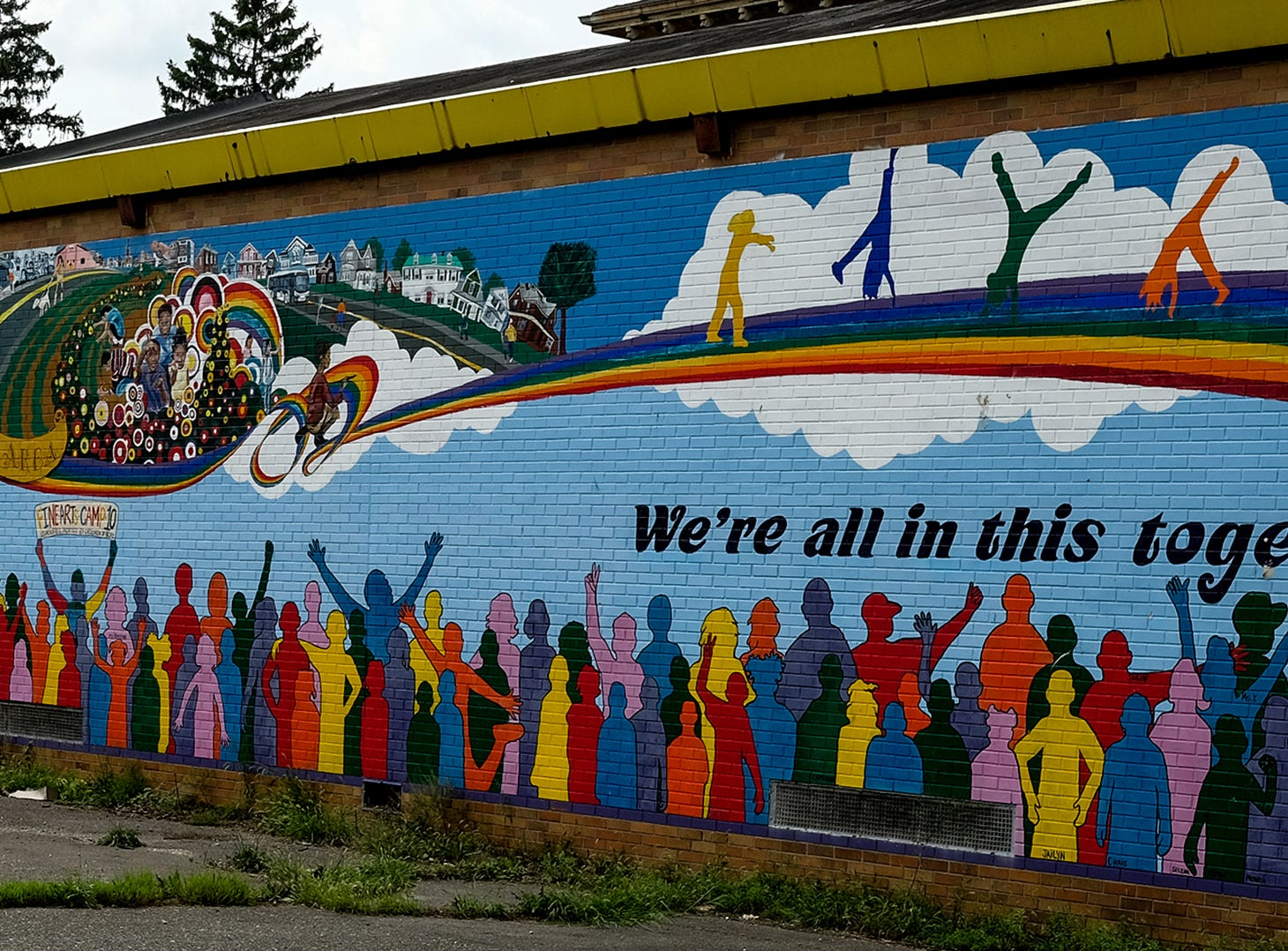 The mural on the back of the old Black Child and Family Institute building in the 800 block of Gennessee in Lansing.