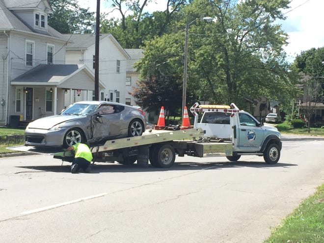 A juvenile driver was taken to the hospital after a one-vehicle crash into a pole Sunday afternoon, Marion City Fire platoon chief Adam Fetter said.