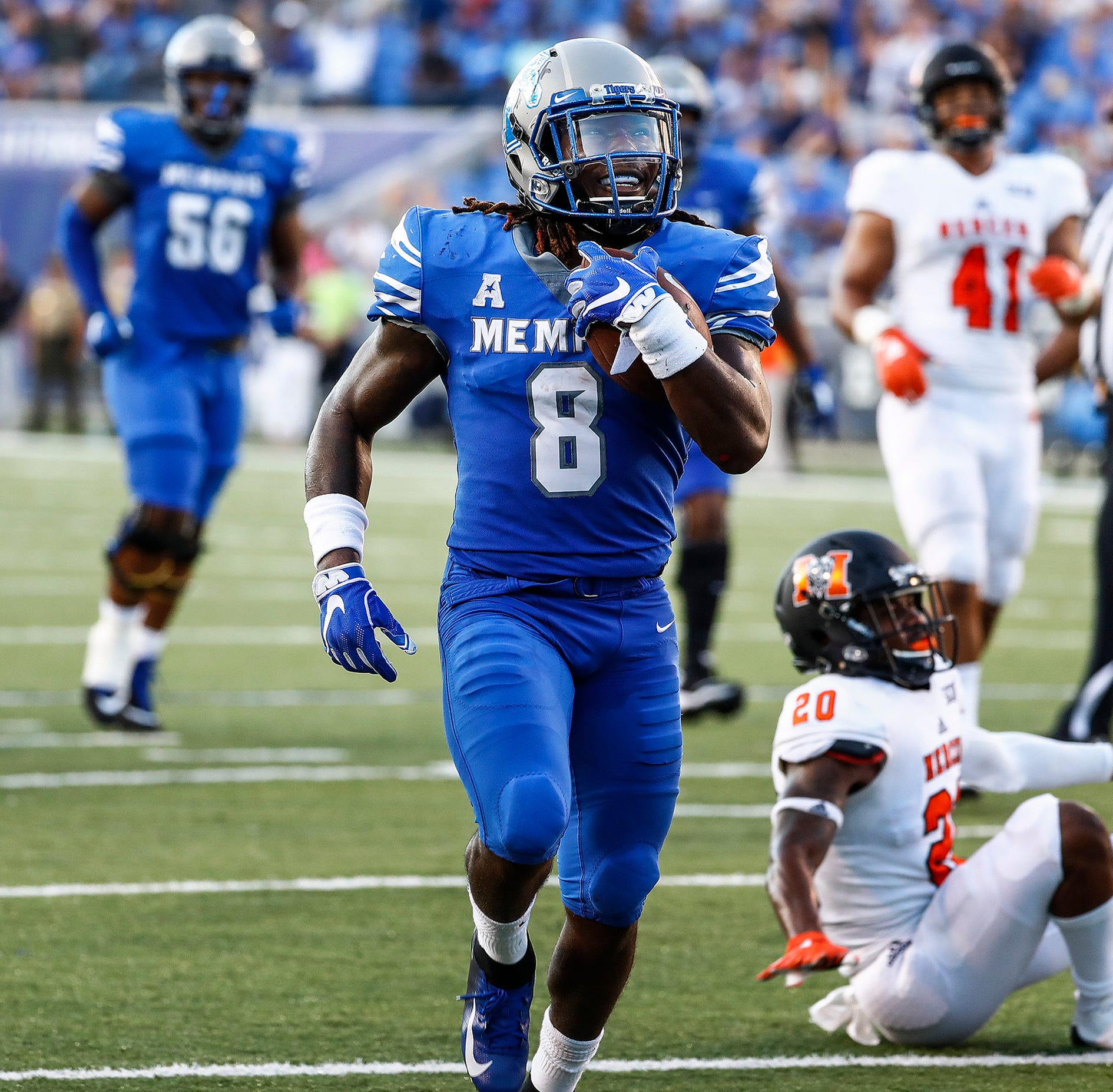 Memphis' Darrell Henderson gets NFL Draft call from Los Angeles Rams while bowling