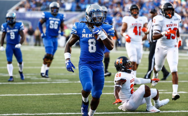 Memphis running back Darrell Henderson has rushed for 1,521 yards, which leads the AAC and is second in the country.
