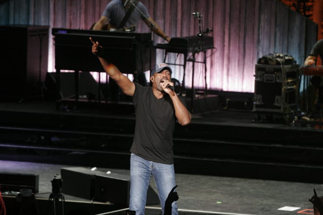 """Darius Rucker, pictured here performing at the American Family Insurance Amphitheater in September, is reuniting with his band Hootie & The Blowfish. The band's """"Group Therapy Tour"""" with Barenaked Ladies is coming to Alpine Valley Music Theatre Aug. 23."""