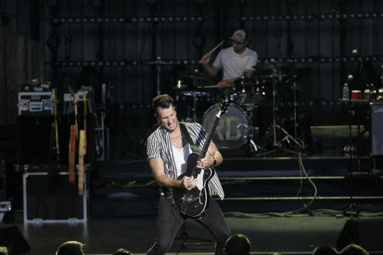 Russell Dickerson opens for Lady Antebellum and Darius Rucker at the American Family Insurance Amphitheater Saturday.