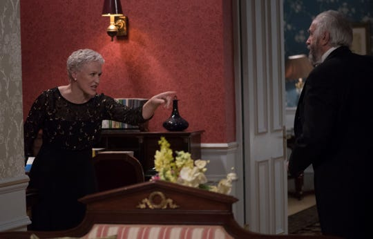 """Glenn Close (left, with Jonathan Pryce) could win her first Oscar in seven tries for her performance in """"The Wife."""""""