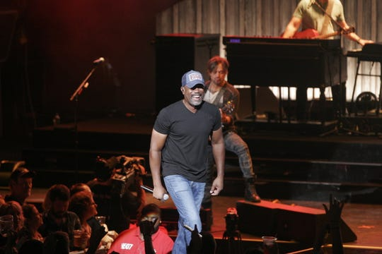 Darius Rucker performs at the American Family Insurance Amphitheater Saturday.