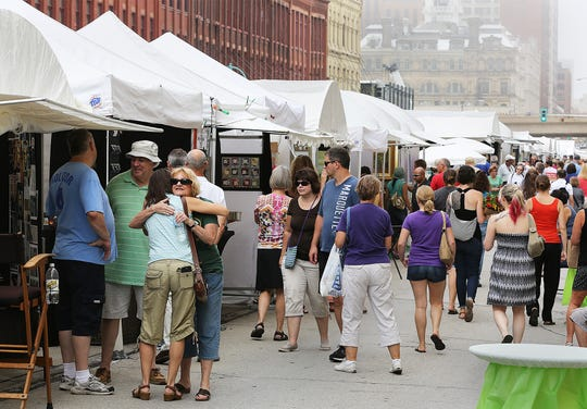 N. Broadway in the Third Ward hosts the Third Ward Art Festival Saturday and Sunday.