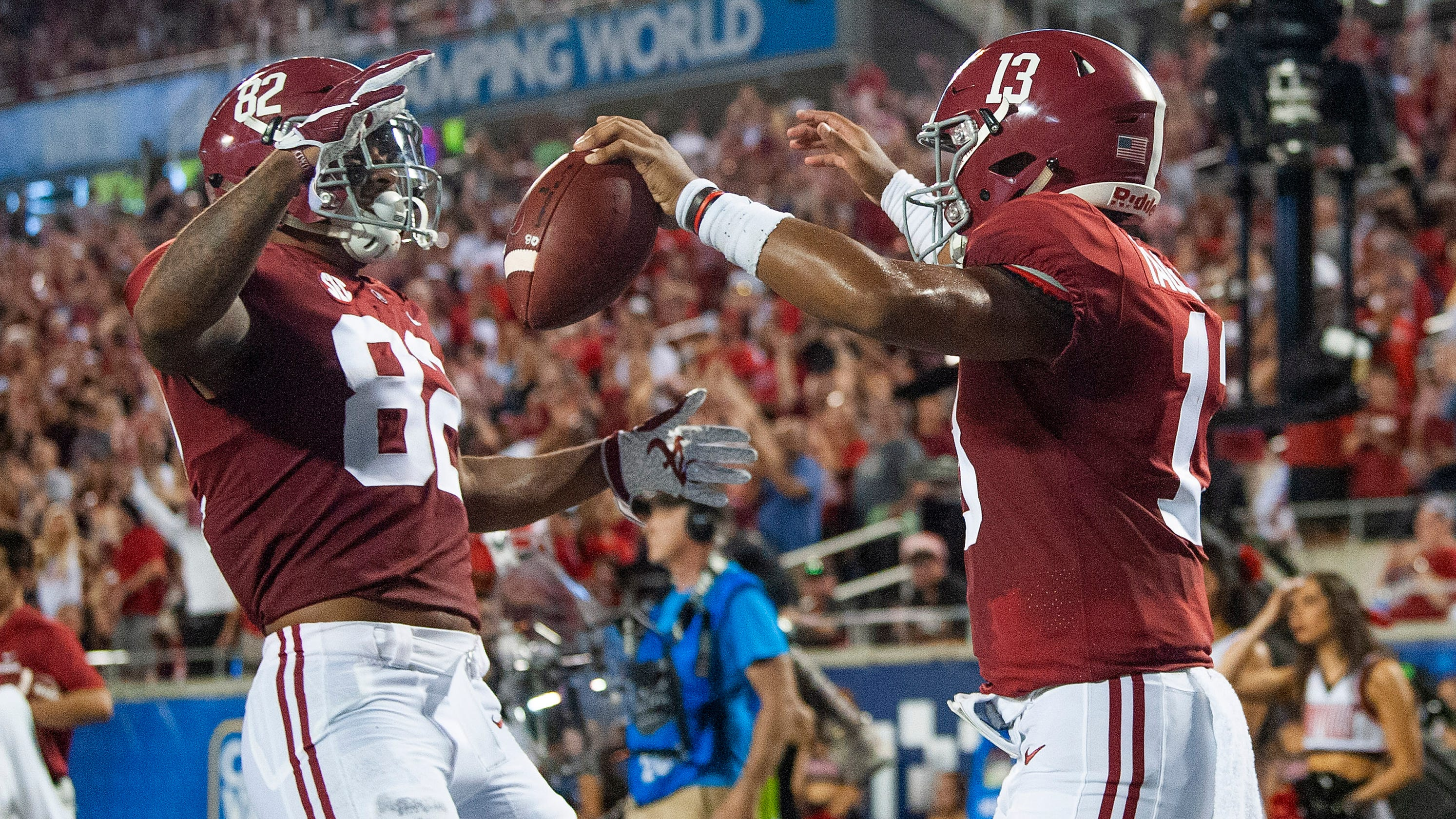 c9f73a029ca Tagovailoa starts, accounts for three TDs in 51-14 Alabama smashing of  Louisville