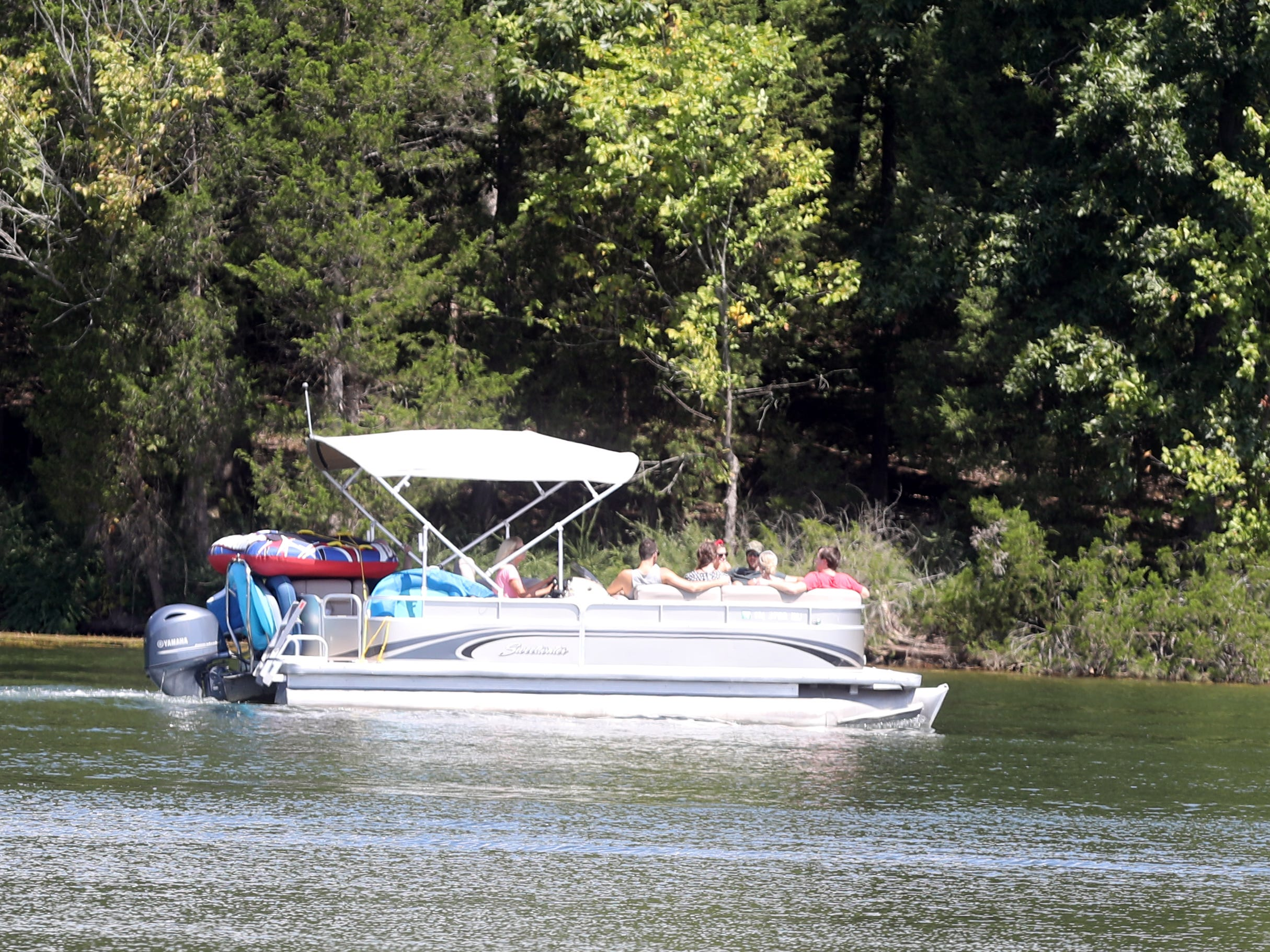 Boaters spend the day on Percy Priest Lake Sunday September 2, 2018.