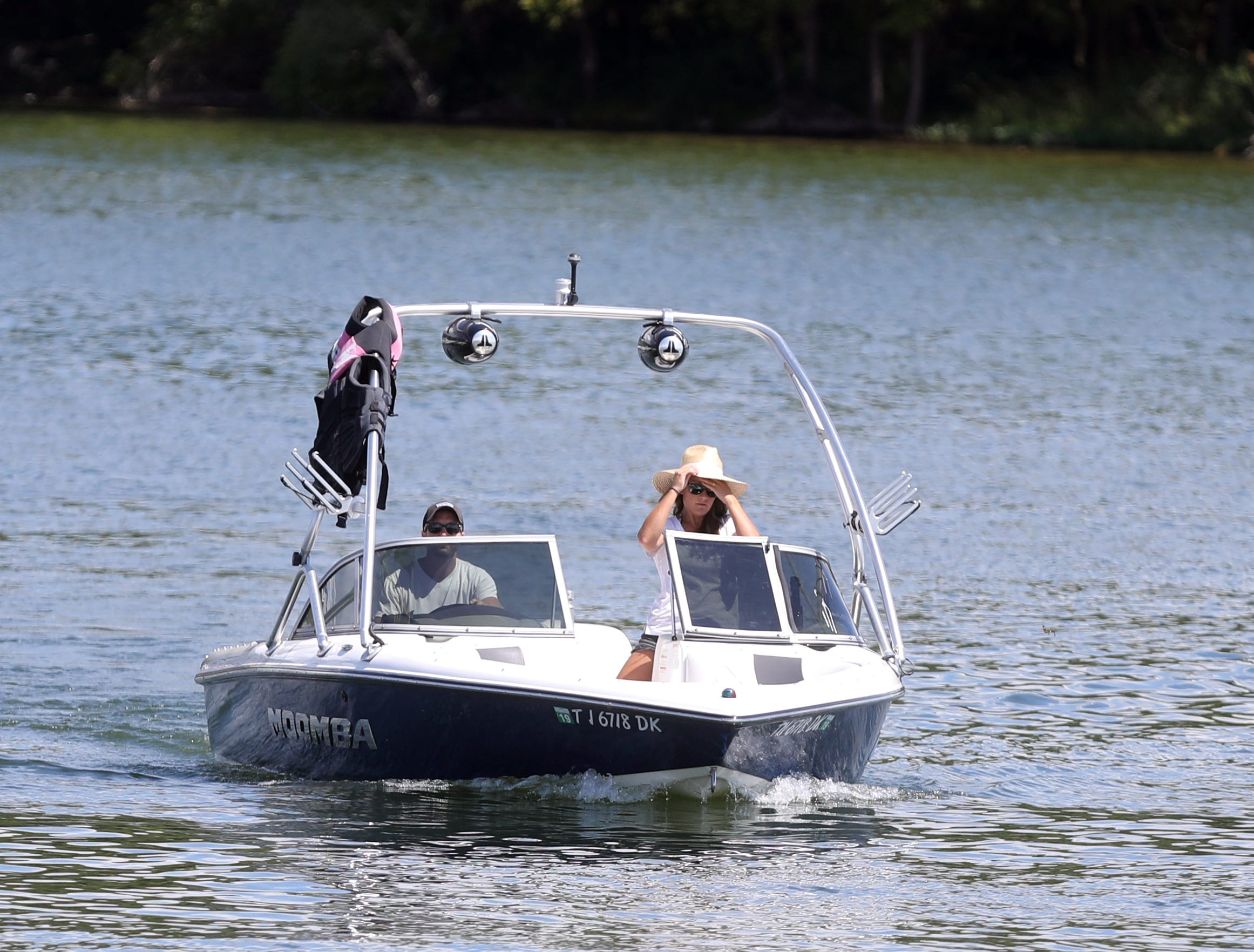 Boaters make their way into Elm Hill Marina on Percy Priest Lake Sunday September 2, 2018.