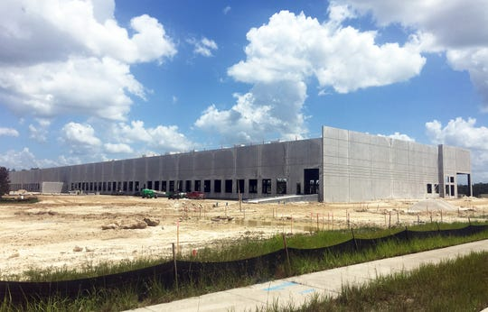 Meridian Center North is nearing completion on the east side of Ben Hill Griffin Parkway just south of the Southwest Florida International Airport.