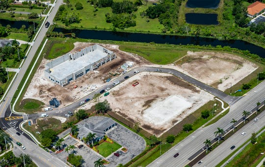 A small retail strip to be anchored by Dollar Tree is under construction at Price Street Plaza, which also includes freestanding buildings for Wawa and Tire Kingdom fronting U.S. 41 East.