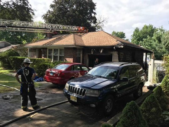 A fire in Bergenfield left a family with a baby without a home on Sunday, Sept. 2 2018.