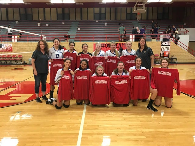 Mesilla Valley Christian volleyball won the Lady Cardinal Classic in Eunice on Saturday.