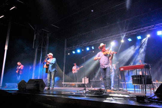 The Josh Abbott Band performing at the 2018 All American Country Music Festival in Ruidoso at Wingfield Park for Labor Day weekend.