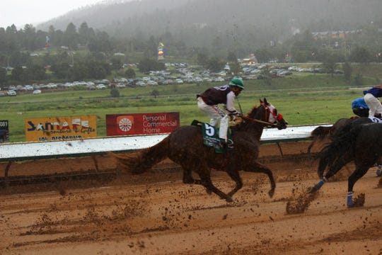 All American Derby  at Ruidoso Downs 7th race finish line.