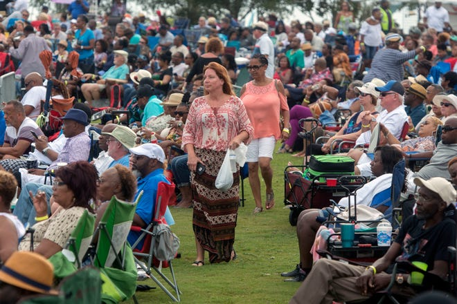 The crowd gets into the music during last year's Gulf Coast Summer Fest-Jazz Edition at Community Maritime Park. This year's events get started with a kick-off party on Friday and the festival on Saturday and Sunday.