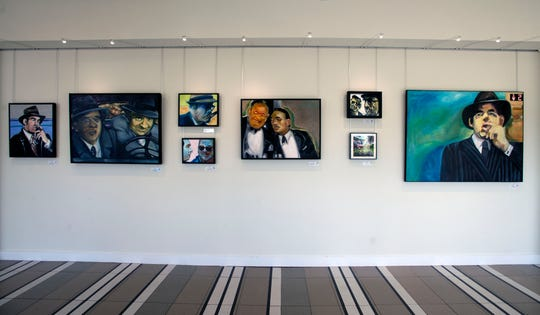 Artwork by artist Maria Hoch at the Luna Art Gallery at the Hilton on Pensacola Beach.