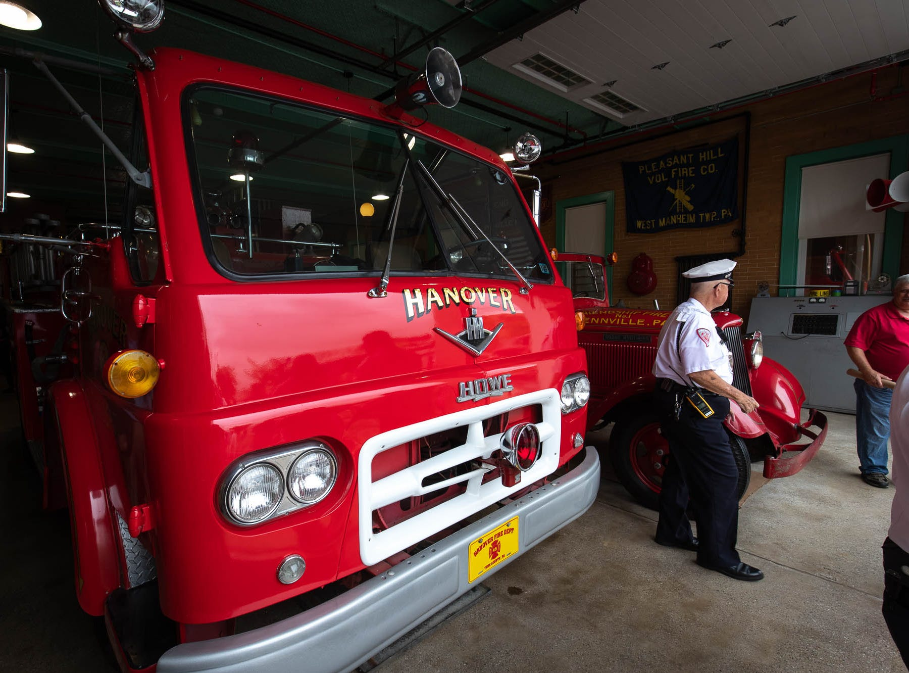 A 1961 Hanover fire department Howe fire engine is seen in the new Greater Hanover Area Fire Museum, Saturday, Sept. 1, 2018, in Hanover.