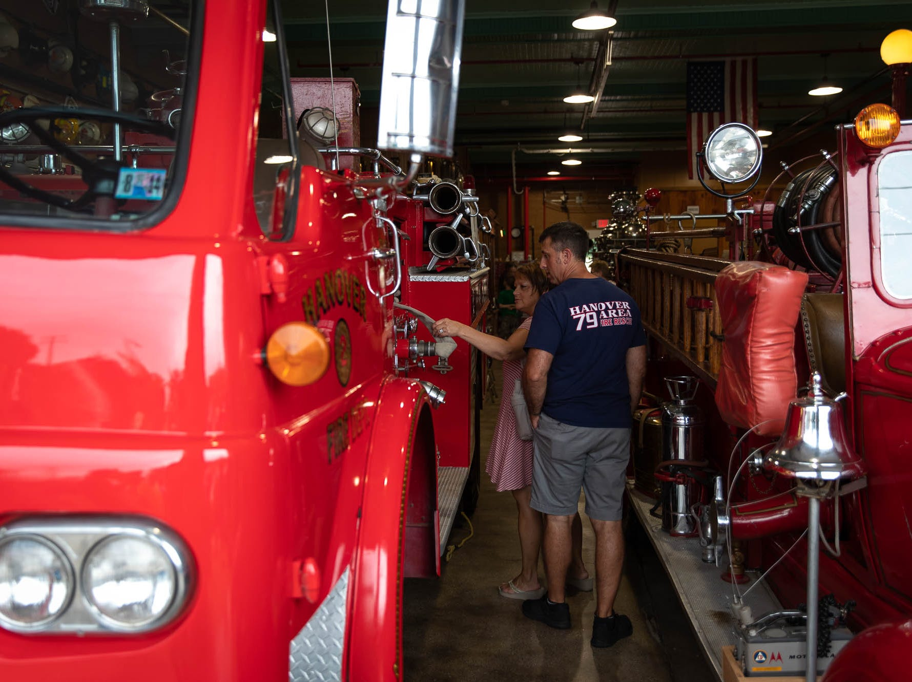 Hanover Area Fire & Rescue firefighter Kevin Sneeringer looks around the new Greater Hanover Area Fire Museum, Saturday, Sept. 1, 2018, in Hanover.