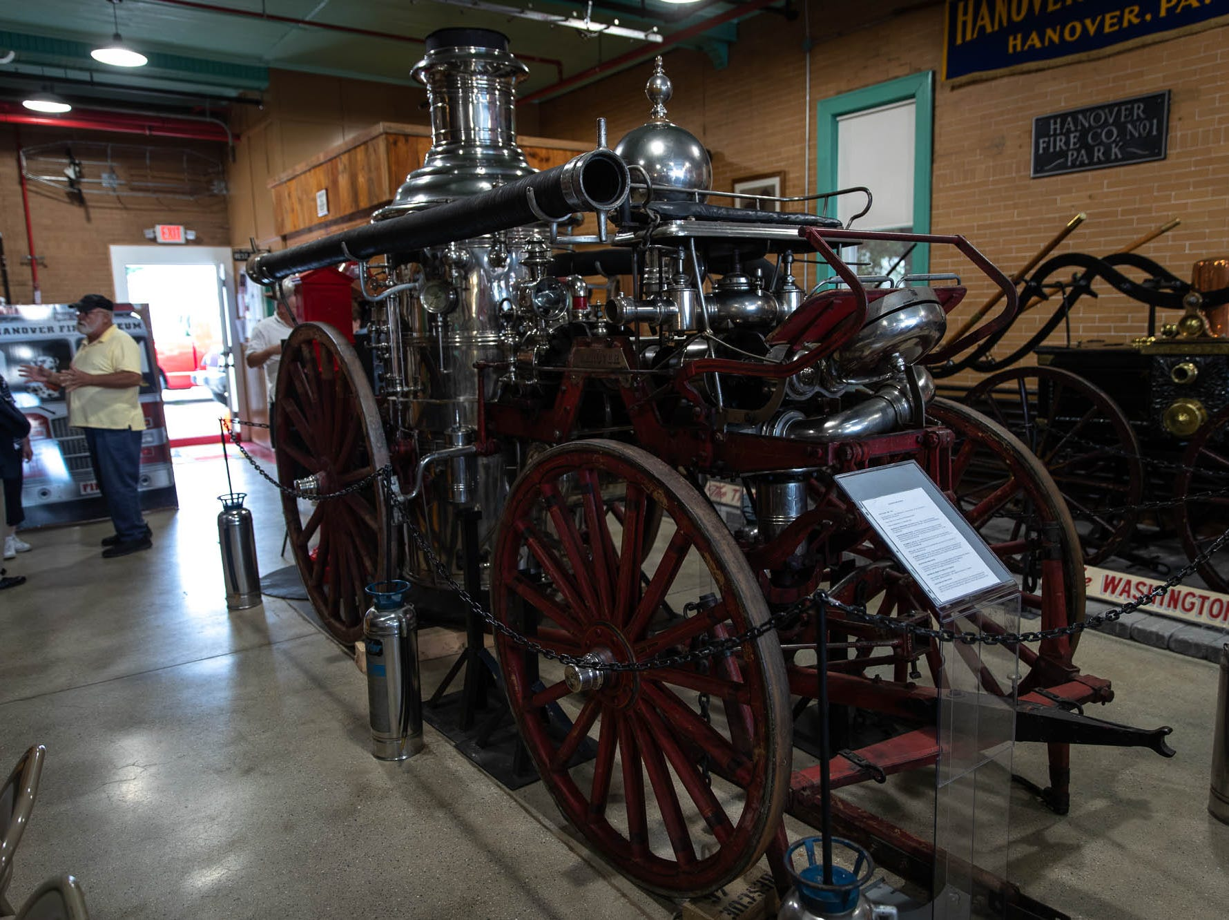 A Silsby Steamer fire apparatus, refurbished in 1887, is seen in the new Greater Hanover Area Fire Museum, Saturday, Sept. 1, 2018, in Hanover.