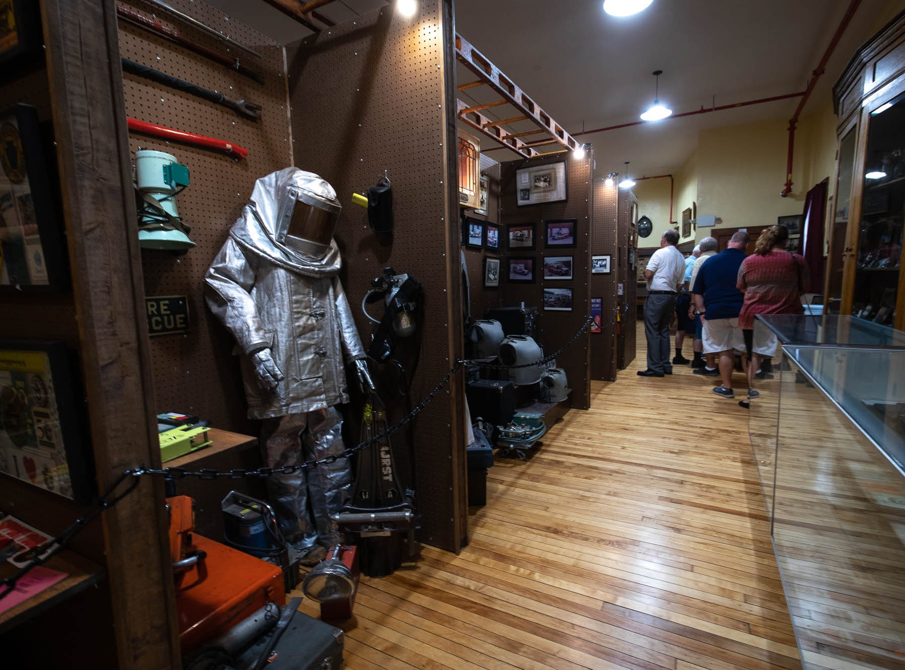 Vintage fire equipment is seen in the new Greater Hanover Area Fire Museum, Saturday, Sept. 1, 2018, in Hanover.