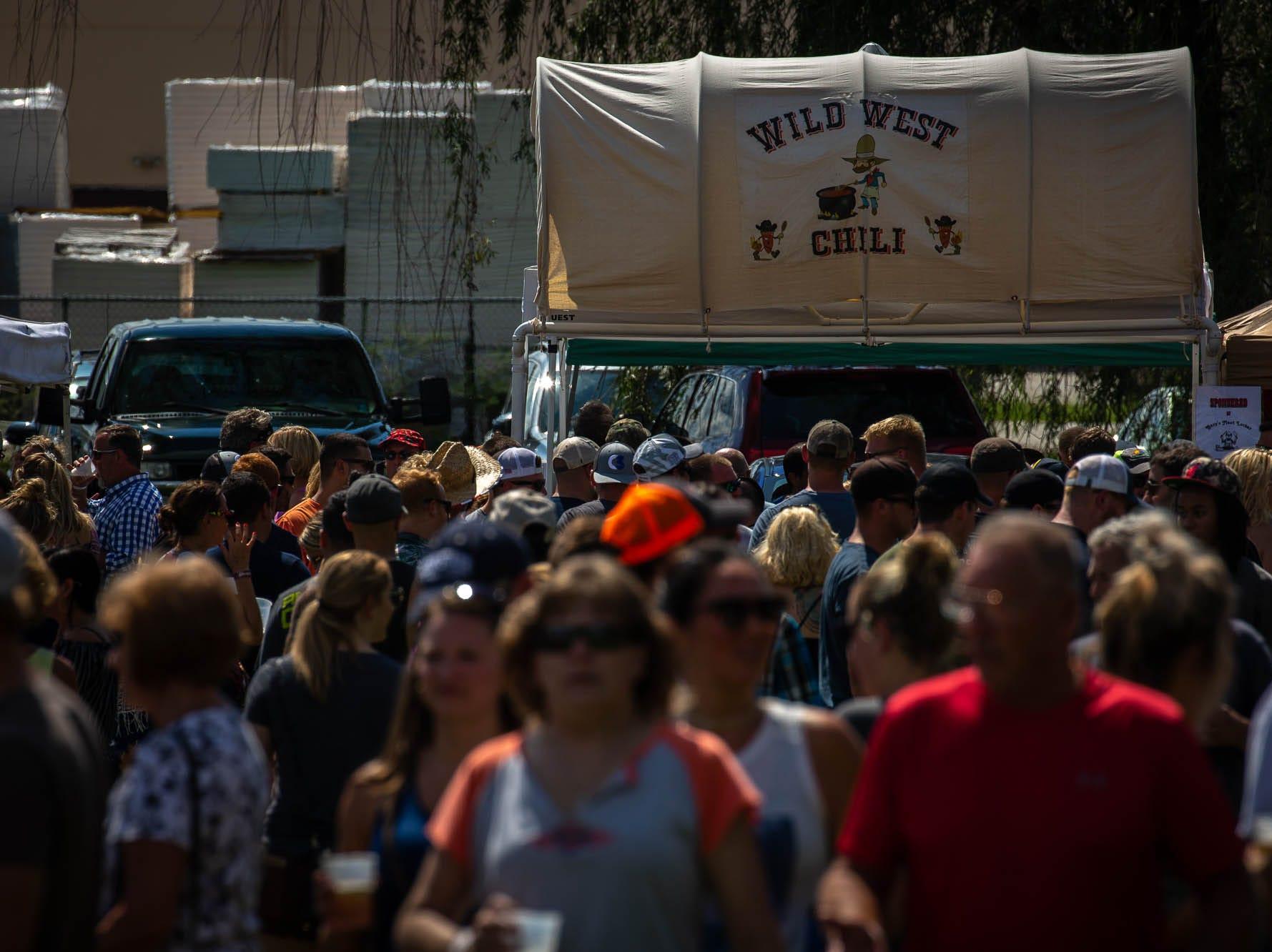 Crowds pass through the 23rd Annual Hanover Chili Cook Off, Sunday, Sept. 2, 2018, at Good Field in Hanover.