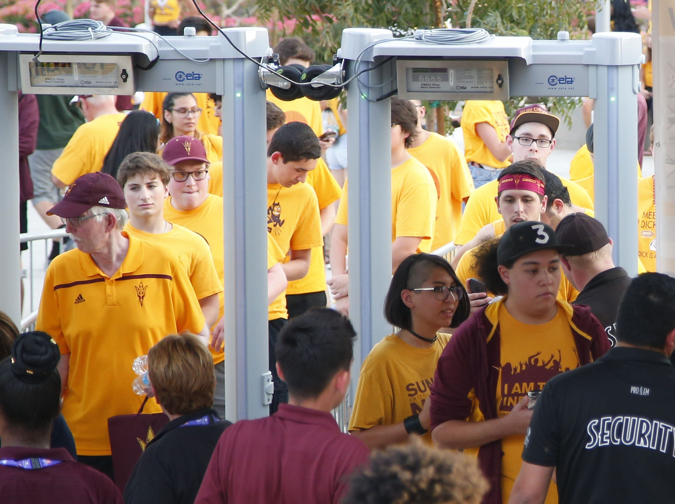 during a football game at Sun Devil Stadium in Tempe on September 1, 2018.