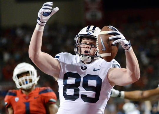 BYU tight end Matt Bushman has had more than 500 yards receiving in each of his first two seasons.