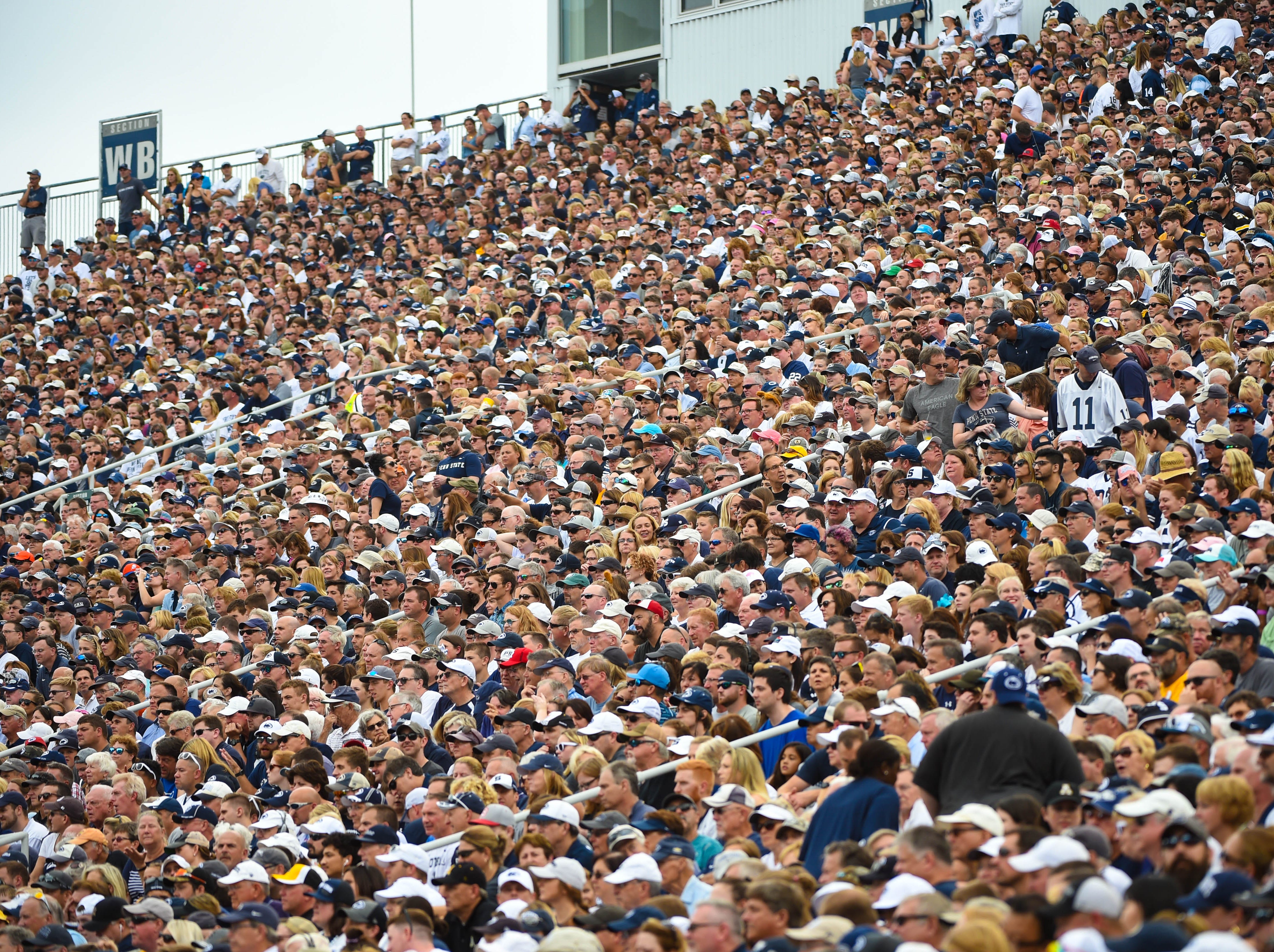 Over 100,000 fans filed into Beaver Stadium for the Penn State home opener against Appalachian State on September 1, 2018.