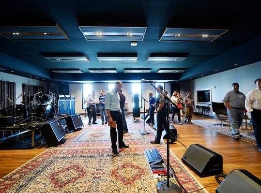 Back to 210 York Street and its state-of-the-art Think Loud studio, home of the band and its associated enterprises.