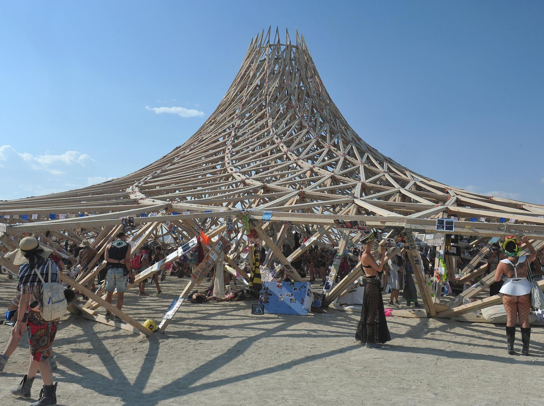 Images from Galaxia, the 2018 Burning Man Temple.
