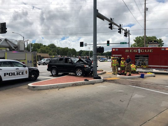 Police say an SUV crashed into a pedestrian at Sunshine Street and Fort Avenue on Sept. 2, 2018. The victim suffered extensive injuries and had to have a leg amputated.