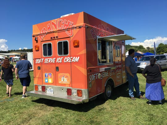 Branch's soft serve ice cream joined the trucks at Sunday's food truck battle.