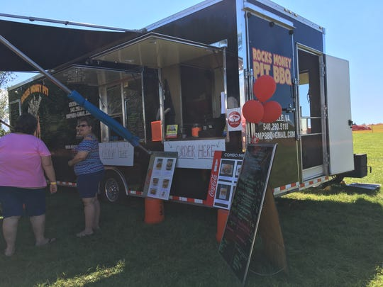 Rocks Money Pit BBQ parked at the 4th annual Virginia Food Truck Battle