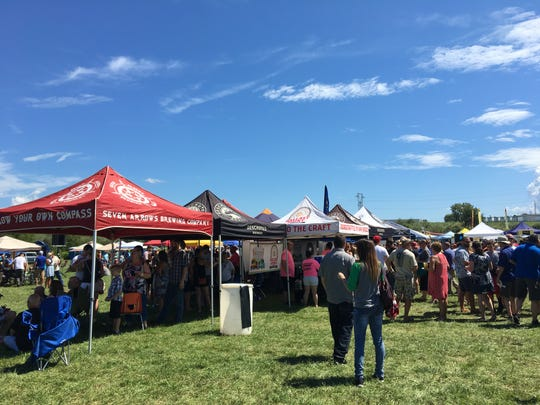 The crowd at the Virginia Food Truck Battle on Sunday had the option of tasting craft beer along with the variety of cuisines from the trucks.