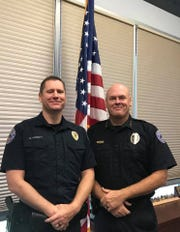 Mesquite police Chief Troy Tanner (right) is pictured with Sgt. Quinn Averett, the department's policy and public information officer.