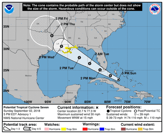 Tropical storm forecast to hit Gulf Coast