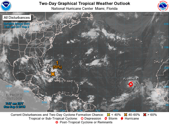 Tropical disturbance heading toward Gulf