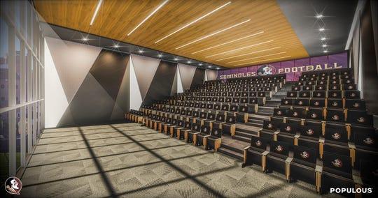 A meeting room inside FSU's future stand-alone football facility.