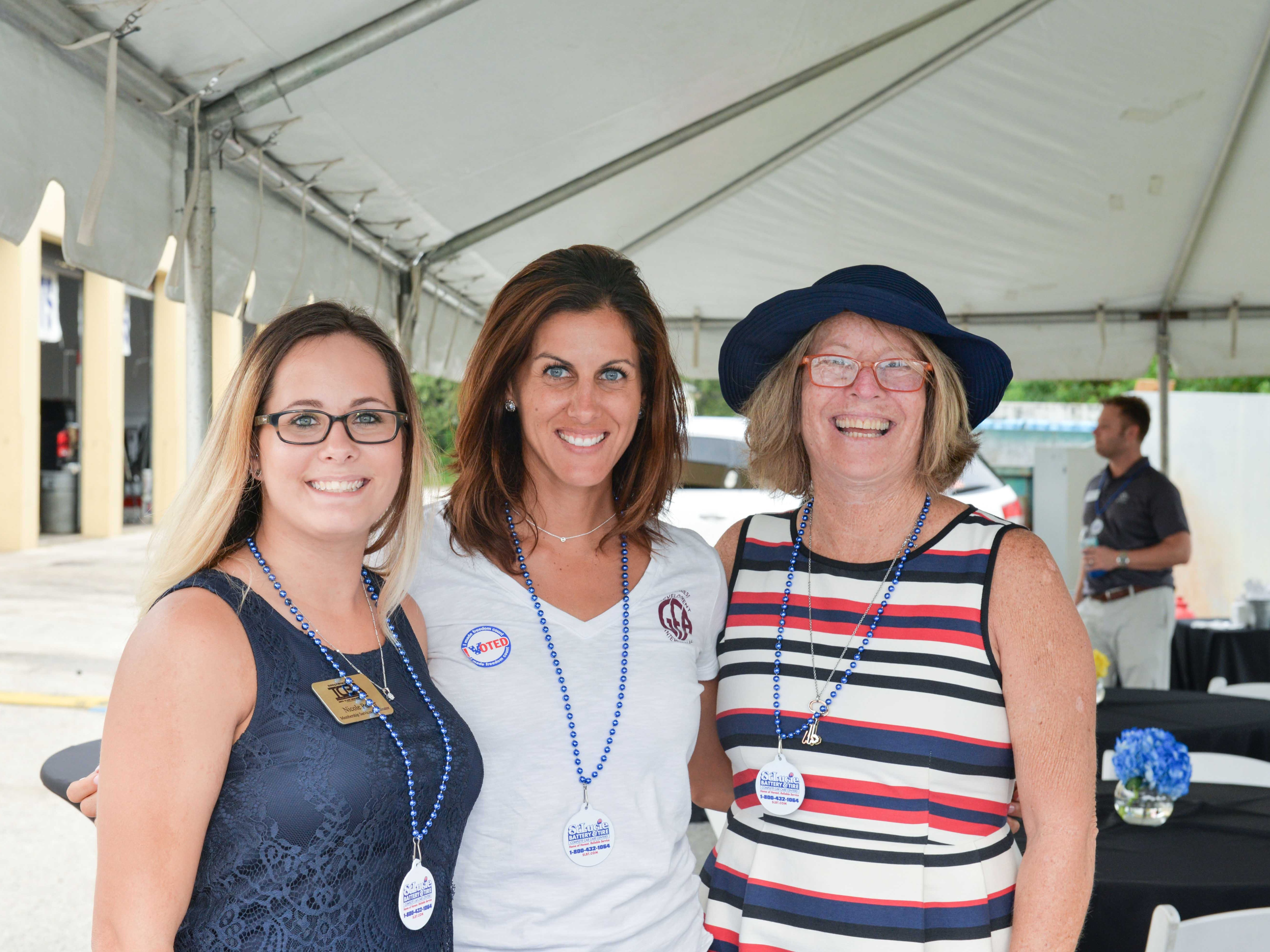 Nicole Porter, Dayna Izzo and Patti Hancock at the Treasure Coast Builders Association's Fun After Five networking event.