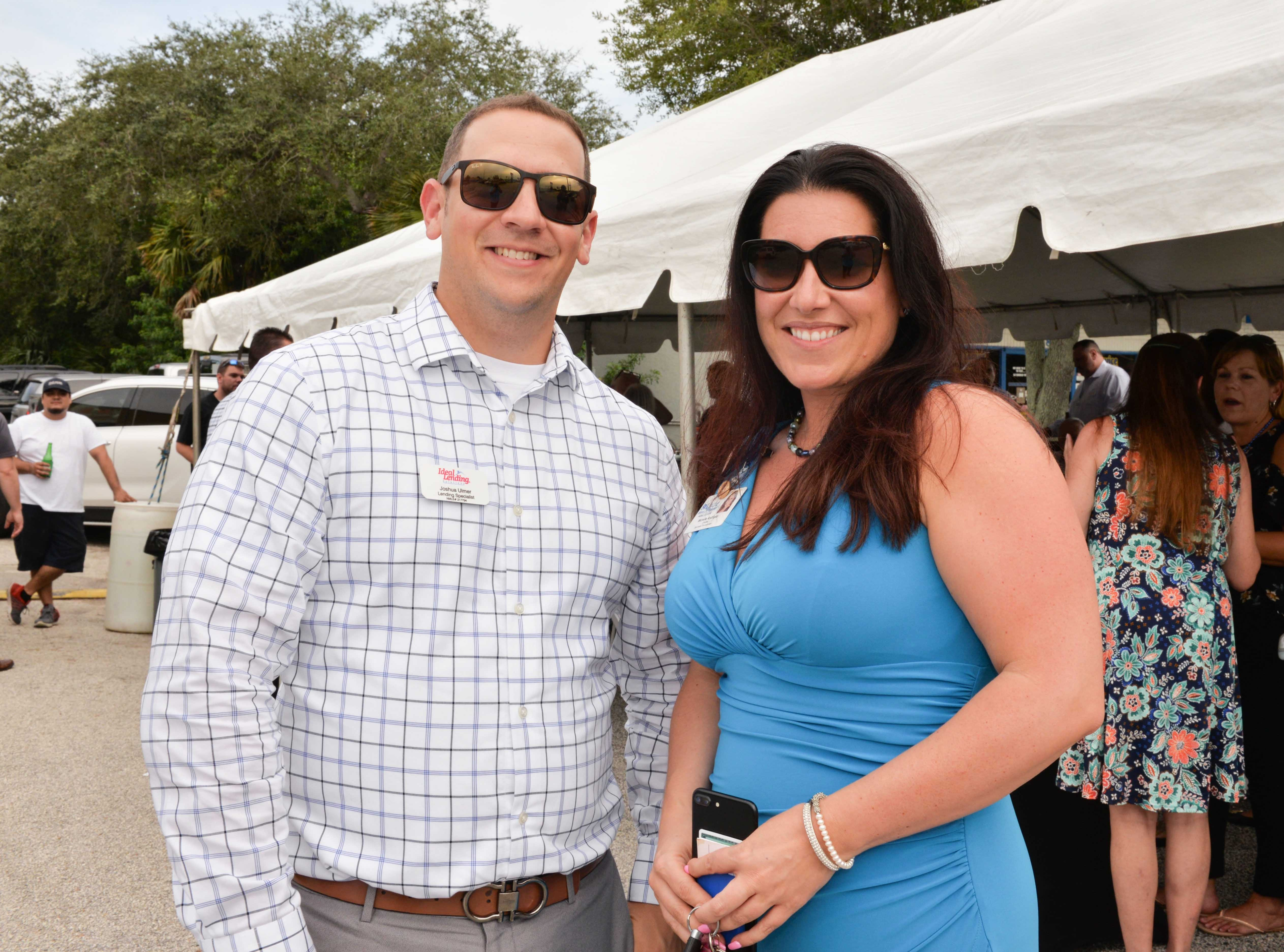 Joshua Ulmer, of Ideal Lending, and Michelle Rodriguez, of St. Lucie Medical Center, at the Treasure Coast Builders Association's Fun After Five networking event.