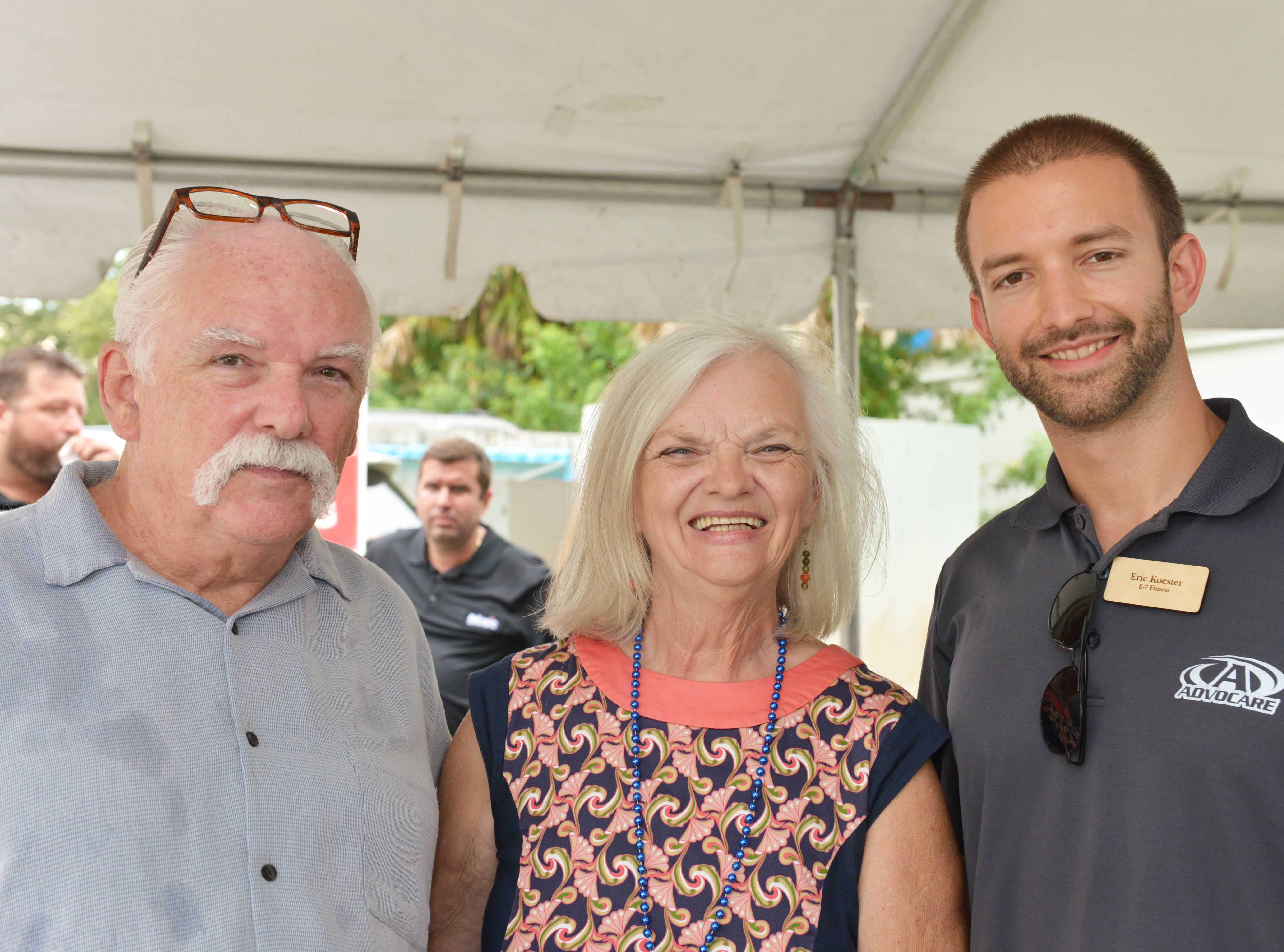 Jack Fiske, left, Deborah Fiske and Eric Koester at the Treasure Coast Builders Association's Fun After Five networking event.
