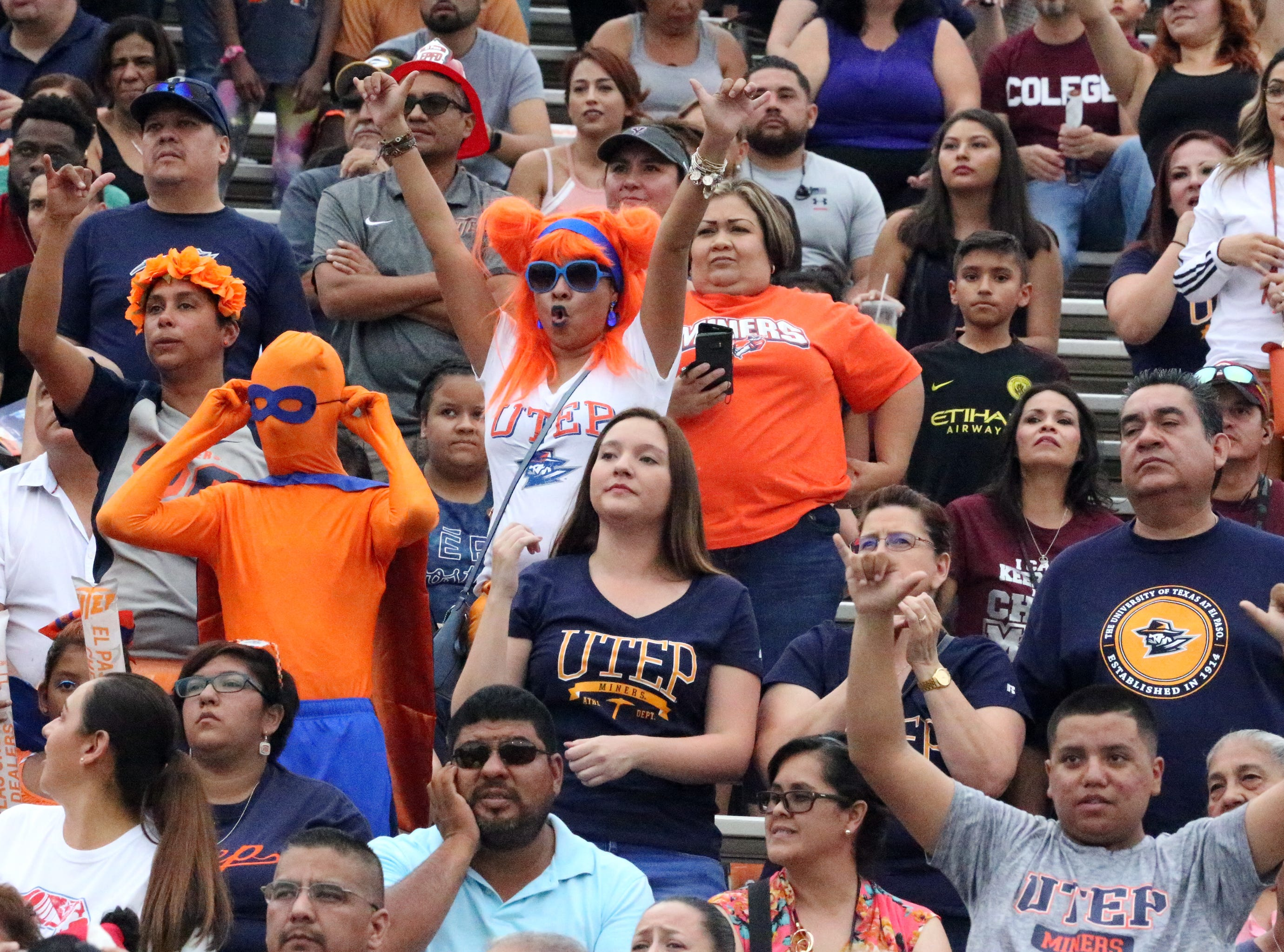 UTEP fans ready to watch their team play Saturday night in the Sun Bowl Stadium.