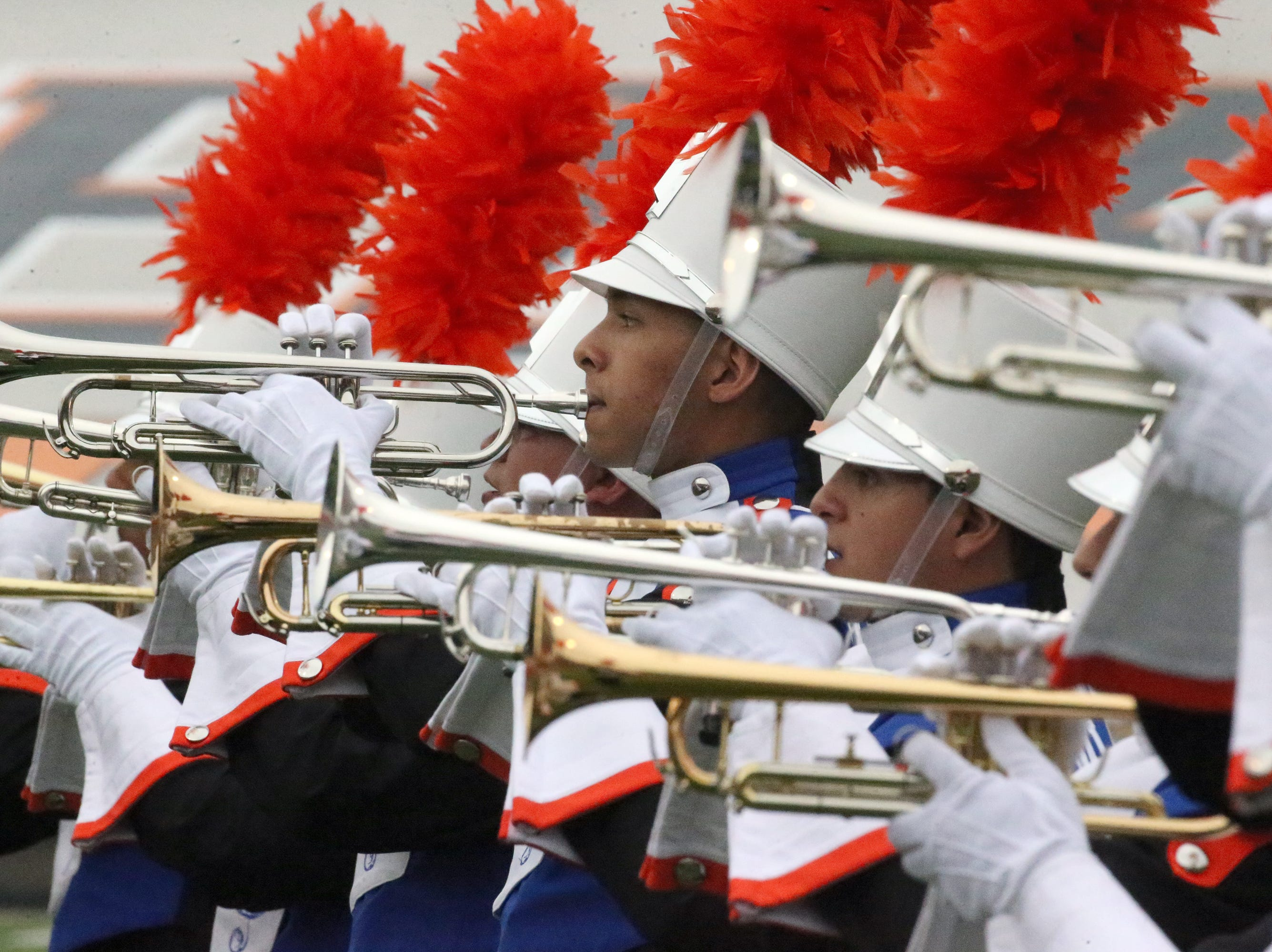 The UTEP band plays at the start of the Miners season home opener with North Arizona Saturday night.