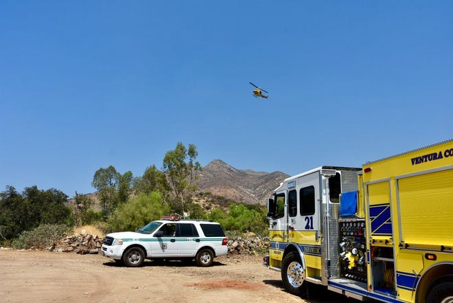 Multiple emergency units helped rescue two horses and a rider from a canyon above Thacher School Sunday afternoon.